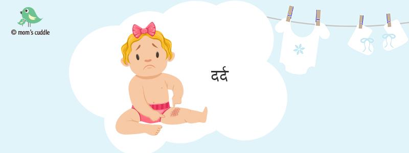 शिशु को किसी किस्म का दर्द या तकलीफ़ है