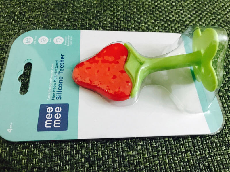 Mee Mee Silicone Teether Strawberry – Used and Reviewed